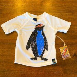 Charlie Rocket Infant Boys Swim Shirt, Size 6 M